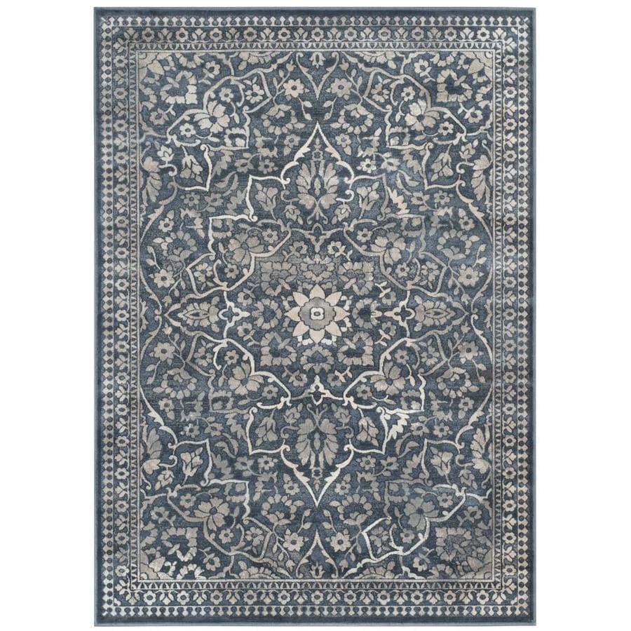 Safavieh Vintage Blue/Light Grey Rectangular Indoor Machine-Made Area Rug