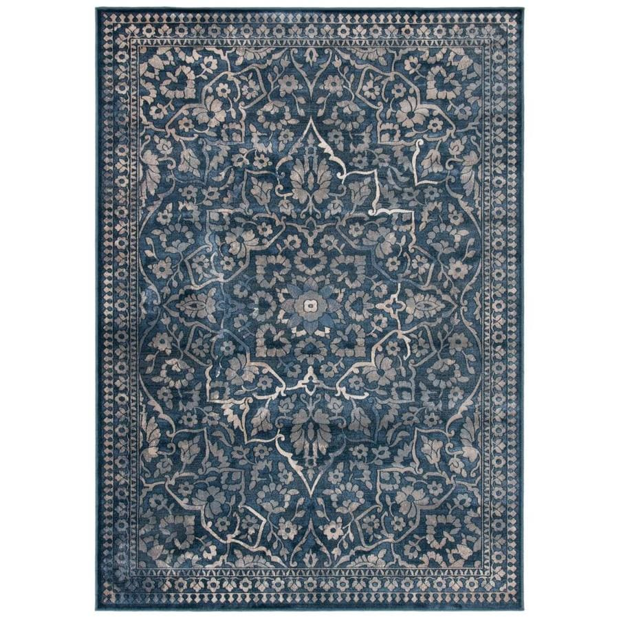 Safavieh Vintage Ardebil Blue/Light Gray Indoor Distressed Area Rug (Common: 7 x 9; Actual: 6.7-ft W x 9.2-ft L)