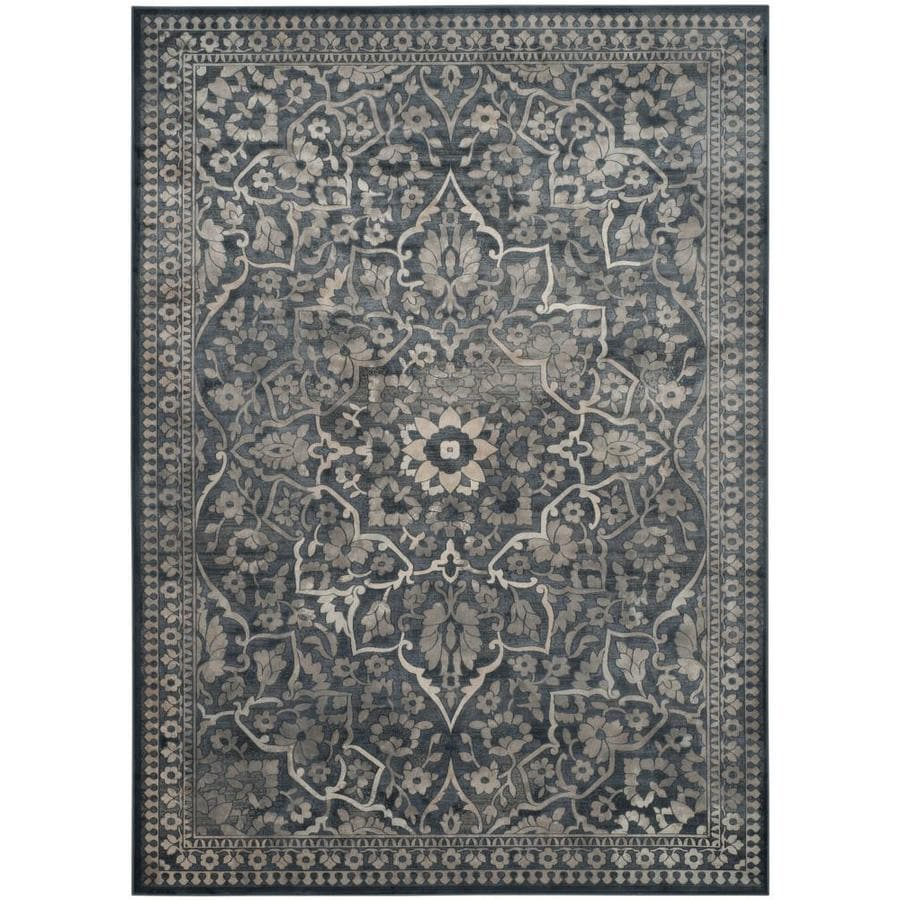 Safavieh Vintage Ardebil Blue/Light Gray Rectangular Indoor Machine-made Distressed Area Rug (Common: 9 x 12; Actual: 8.8-ft W x 12.2-ft L)
