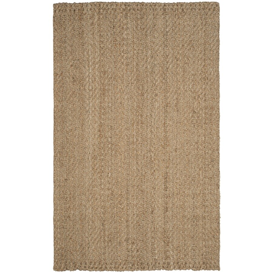 Safavieh Natural Fiber Shinnecock Natural/Natural Rectangular Indoor Handcrafted Coastal Area Rug (Common: 4 x 6; Actual: 4-ft W x 6-ft)