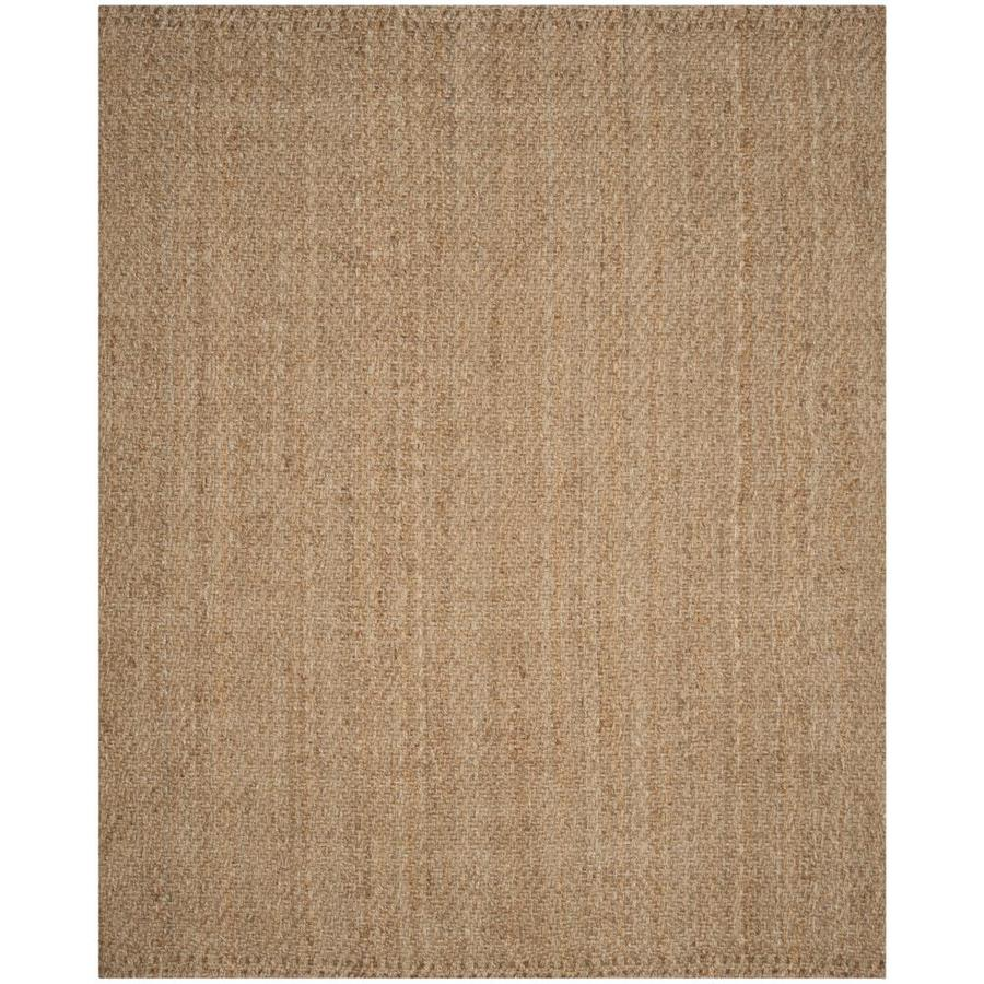 Safavieh Natural Fiber Shinnecock Natural/Natural Rectangular Indoor Handcrafted Coastal Area Rug (Common: 9 x 12; Actual: 9-ft W x 12-ft)