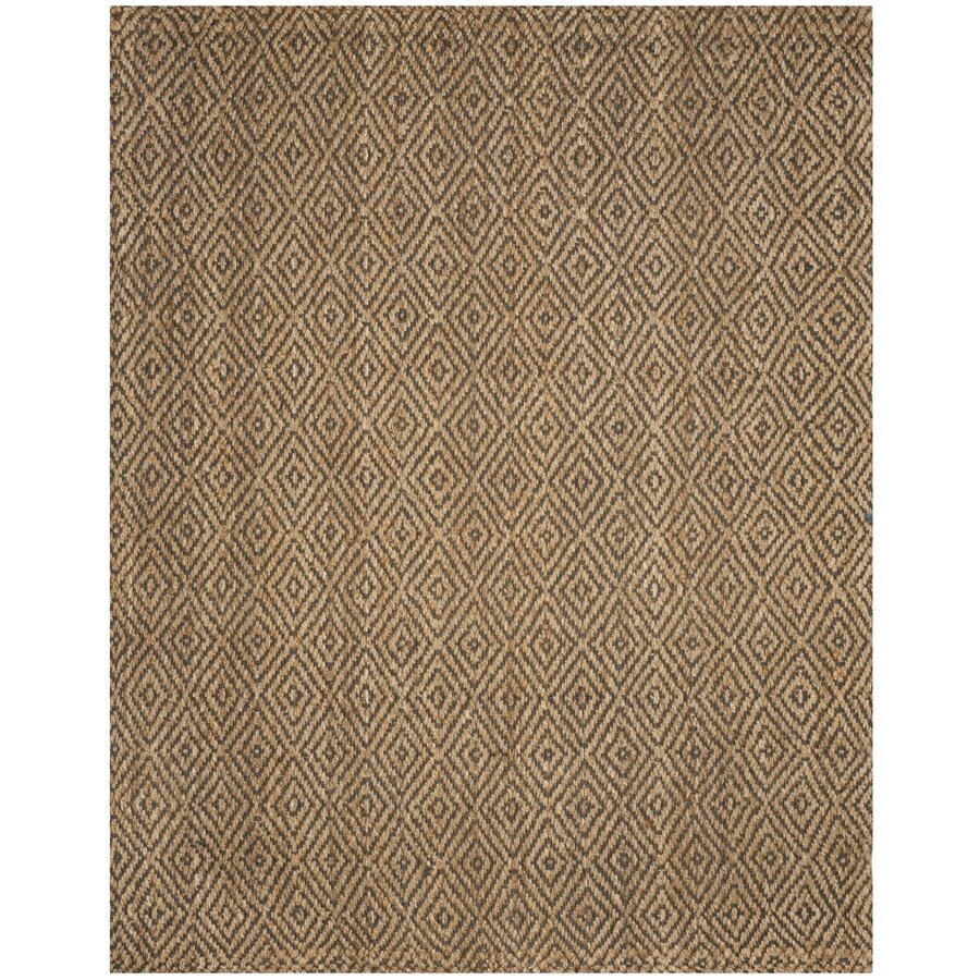 Safavieh Natural Fiber Shinnecock Natural/Gray Indoor Handcrafted Coastal Area Rug (Common: 9 x 12; Actual: 9-ft W x 12-ft L)