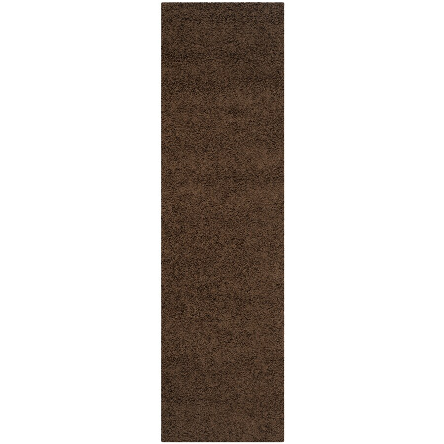 Safavieh Athens Shag Brown Indoor Moroccan Runner (Common: 2 x 8; Actual: 2.25-ft W x 8-ft L)