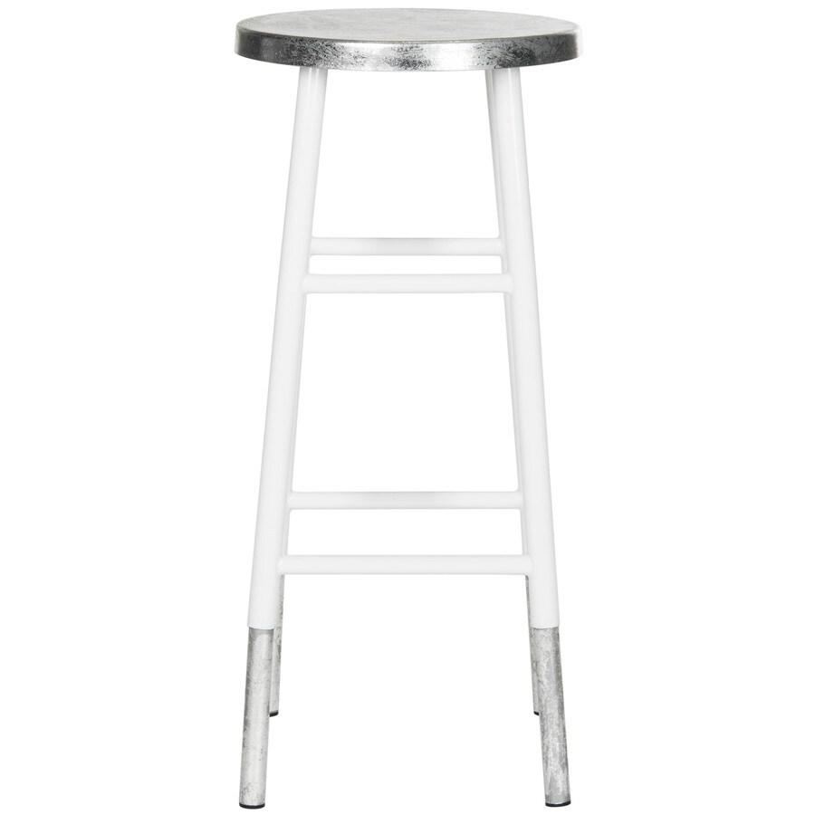 Safavieh Kenzie Modern White/Silver Bar Stool