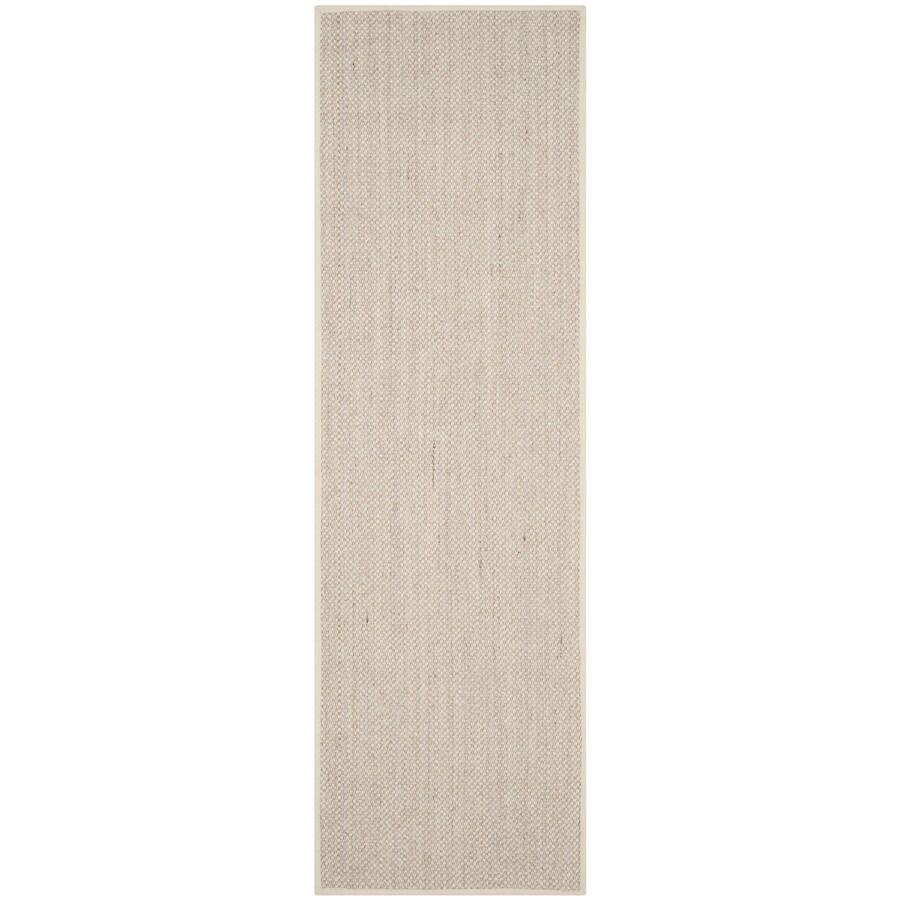 Safavieh Natural Fiber Pines Marble/Beige Indoor Coastal Runner (Common: 2 x 14; Actual: 2.5-ft W x 14-ft L)