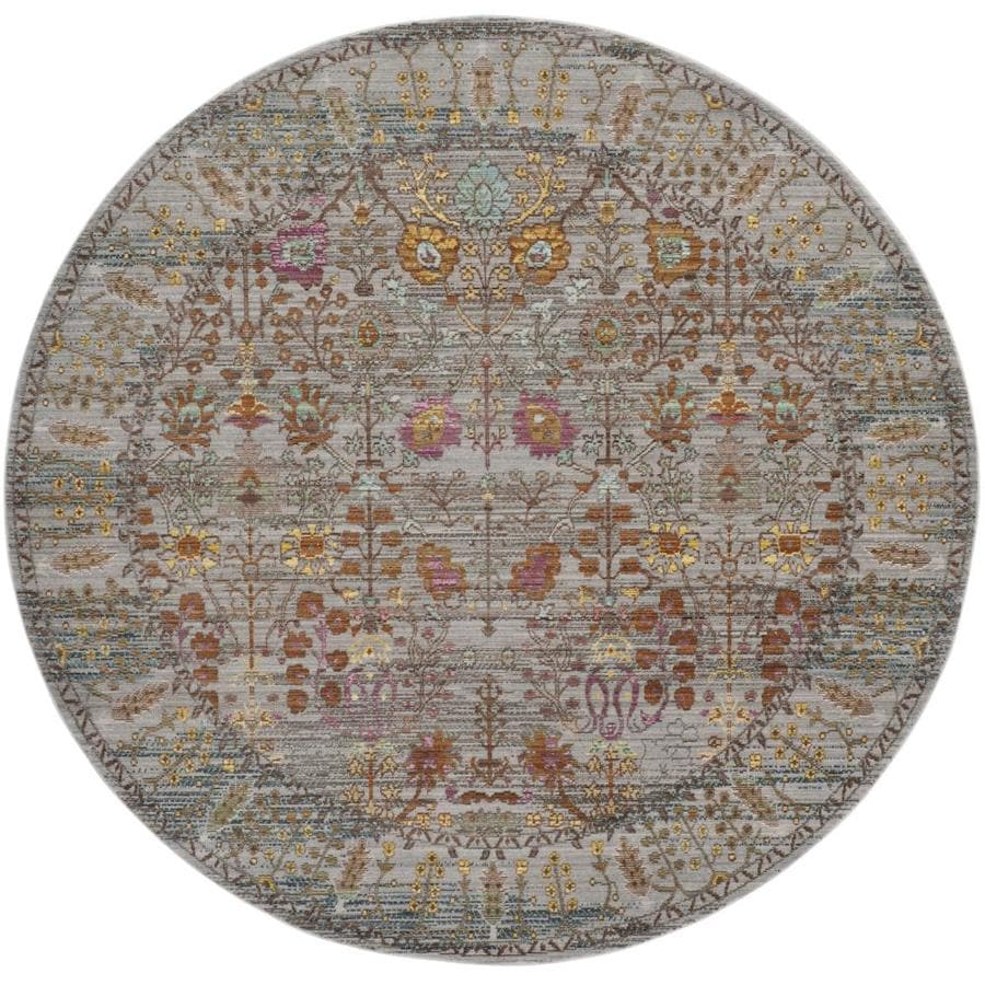 Safavieh Valencia Odessa Gray Round Indoor Distressed Area