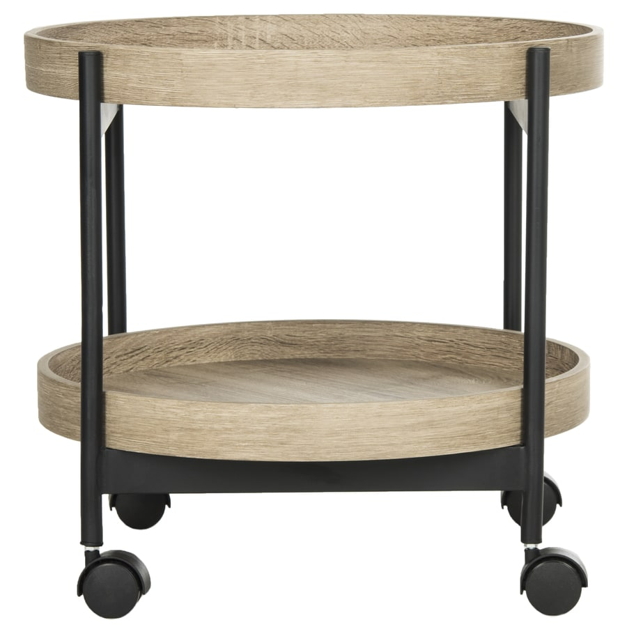 Safavieh Rowley Light Oak Black Wood Casual End Table
