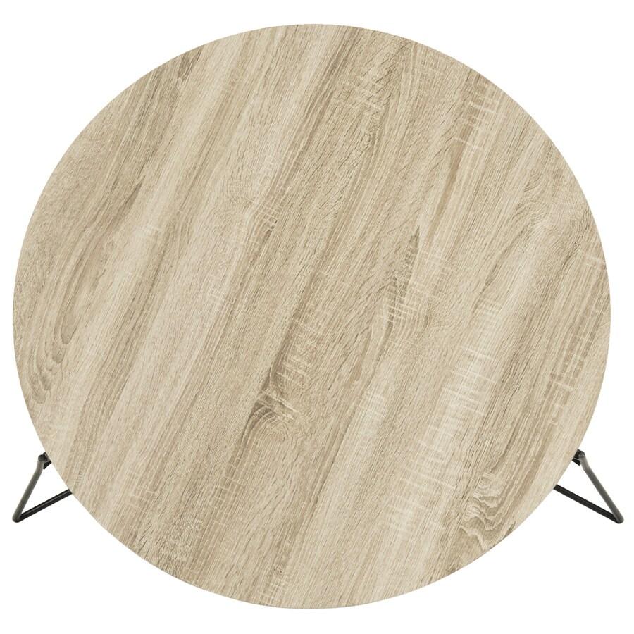 Safavieh Mae Light Oak/Black  Round Coffee Table