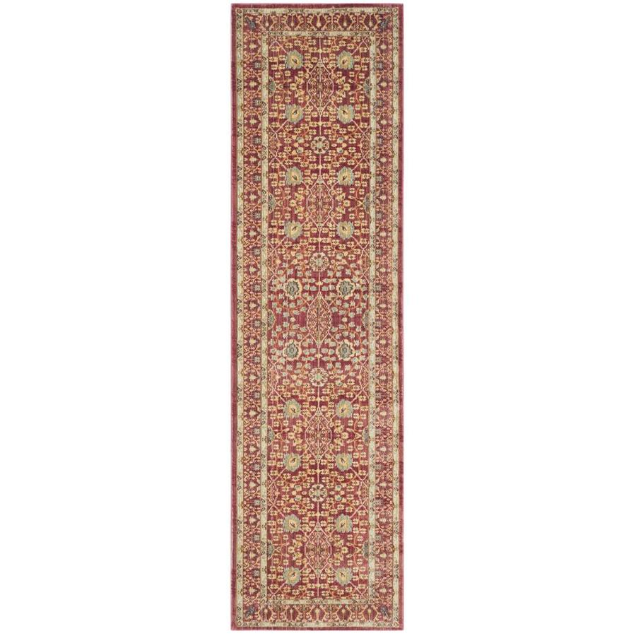 Safavieh Valencia Jayden Red Indoor Distressed Runner (Common: 2 x 12; Actual: 2.25-ft W x 12-ft L)