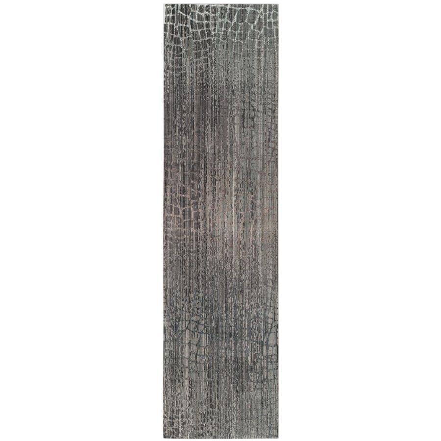 Safavieh Valencia Tami Gray/Multi Rectangular Indoor Machine-made Distressed Runner (Common: 2 x 12; Actual: 2.25-ft W x 12-ft L)