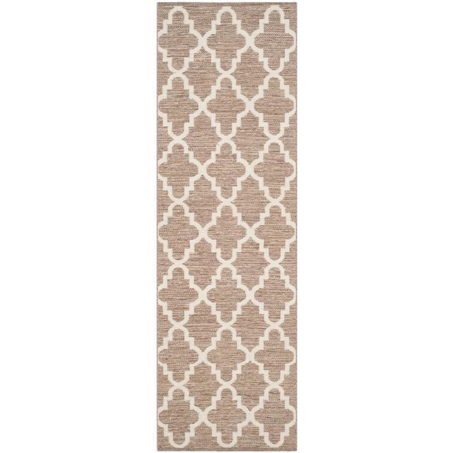 Safavieh Montauk Bolsa Beige/Ivory Indoor Handcrafted Coastal Runner (Common: 2 x 11; Actual: 2.3-ft W x 11-ft L)