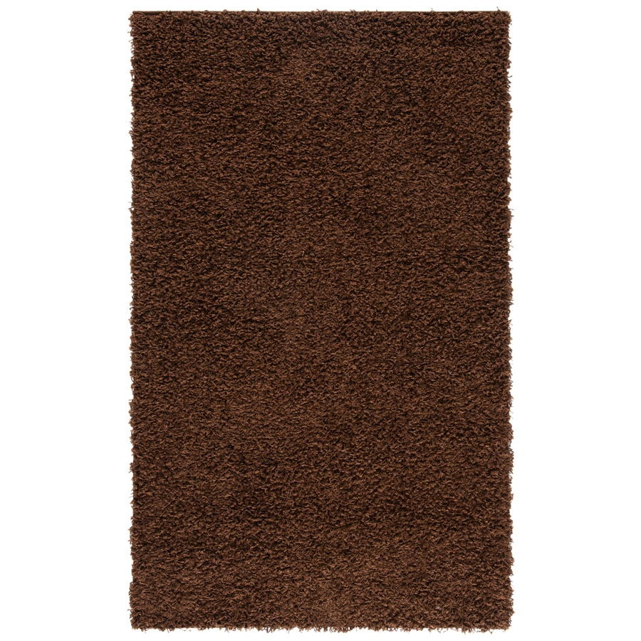 Safavieh Athens Shag Brown Rectangular Indoor Machine-made Moroccan Throw Rug (Common: 3 x 5; Actual: 3-ft W x 5-ft L)
