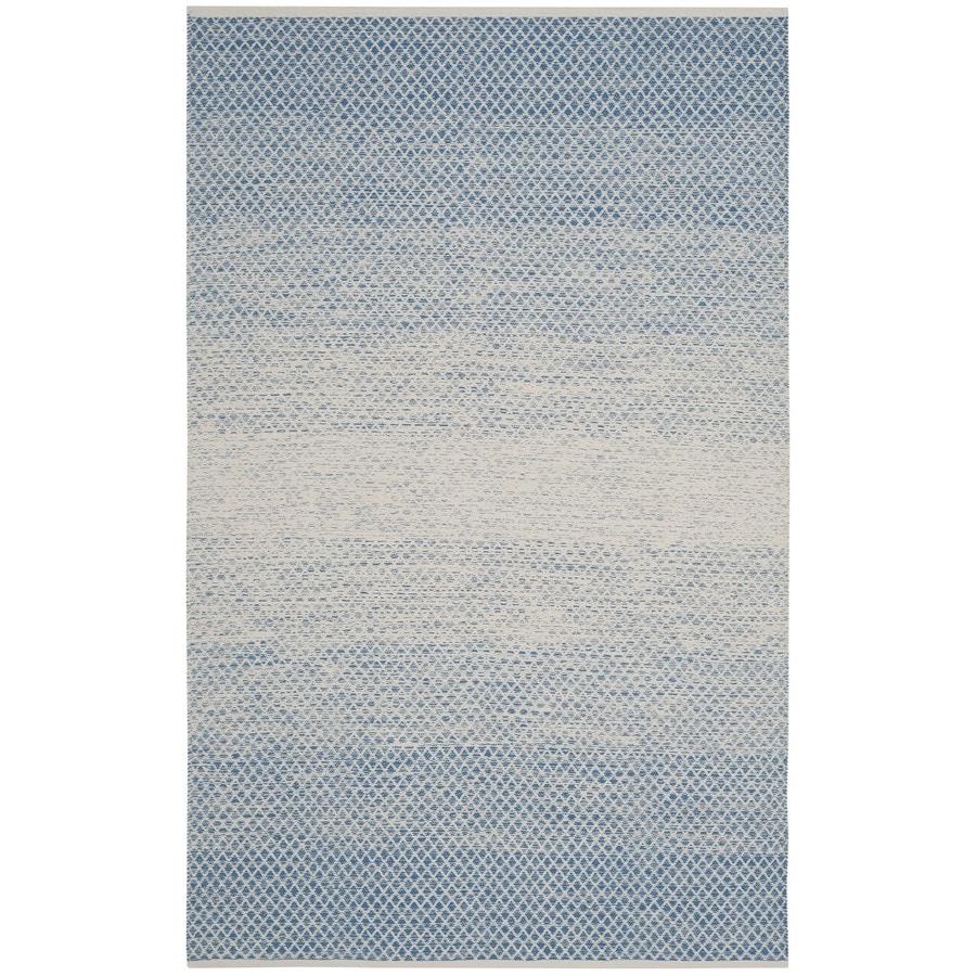 Safavieh Montauk Mindil Blue/Ivory Rectangular Indoor Handcrafted Coastal Area Rug (Common: 5 x 8; Actual: 5-ft W x 8-ft L)