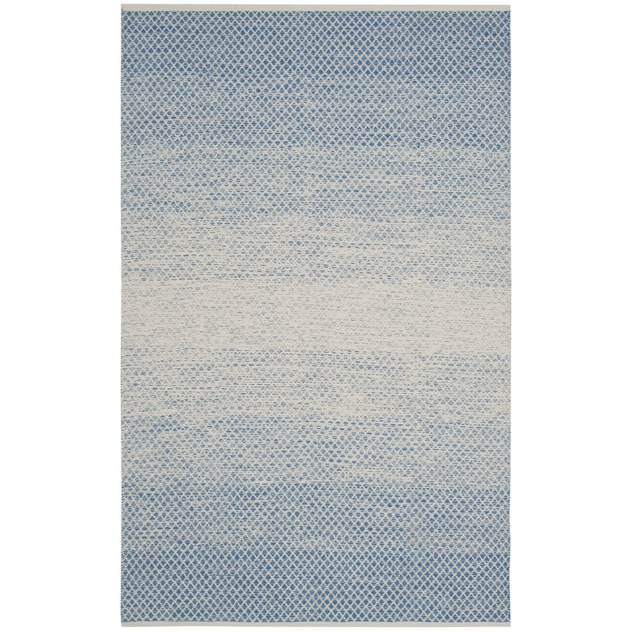 Safavieh Montauk Mindil Blue/Ivory Rectangular Indoor Handcrafted Coastal Area Rug (Common: 6 x 9; Actual: 6-ft W x 9-ft L)