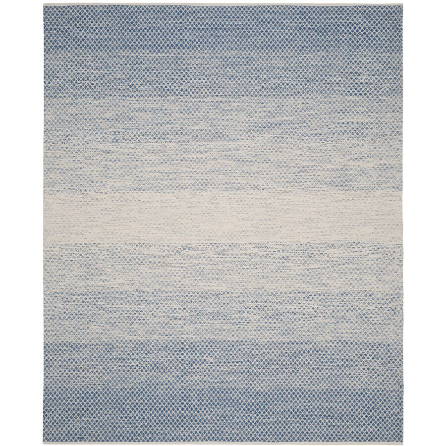 Safavieh Montauk Mindil Blue/Ivory Rectangular Indoor Handcrafted Coastal Area Rug (Common: 8 x 10; Actual: 8-ft W x 10-ft L)