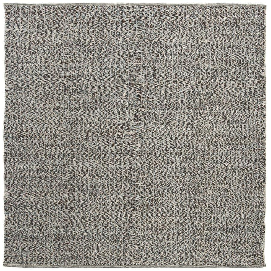 Safavieh Montauk Wategos Blue Square Indoor Handcrafted Coastal Area Rug (Common: 6 x 6; Actual: 6-ft W x 6-ft L)