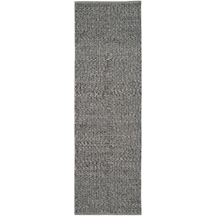 Safavieh Montauk Wategos Gray Indoor Handcrafted Coastal Runner (Common: 2 x 7; Actual: 2.3-ft W x 7-ft L)