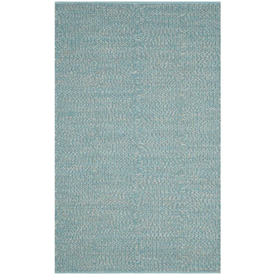 Safavieh Montauk Wategos Turquoise Indoor Handcrafted Coastal Area Rug (Common: 5 x 8; Actual: 5-ft W x 8-ft L)