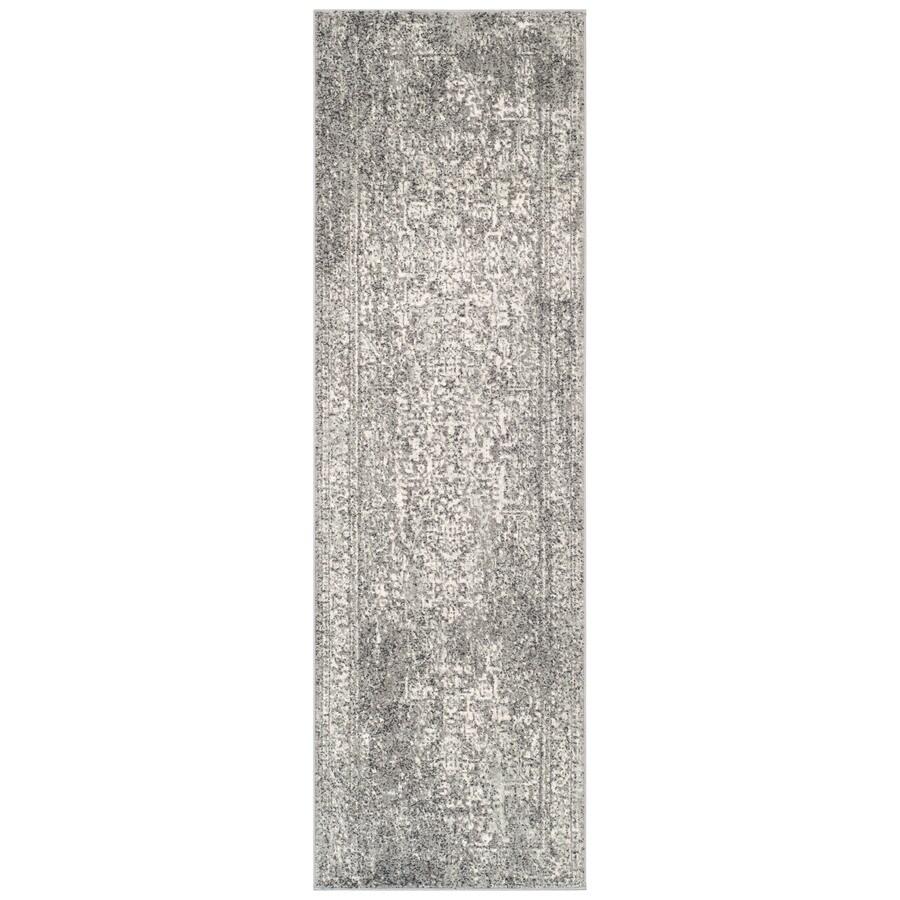 Safavieh Evoke Isla Gray/Ivory Rectangular Indoor Machine-Made Oriental Runner (Common: 2 x 11; Actual: 2.2-ft W x 11-ft L)