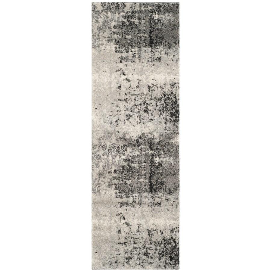 Safavieh Retro Isara Light Gray/Gray 2-ft 3-in x 11-ft