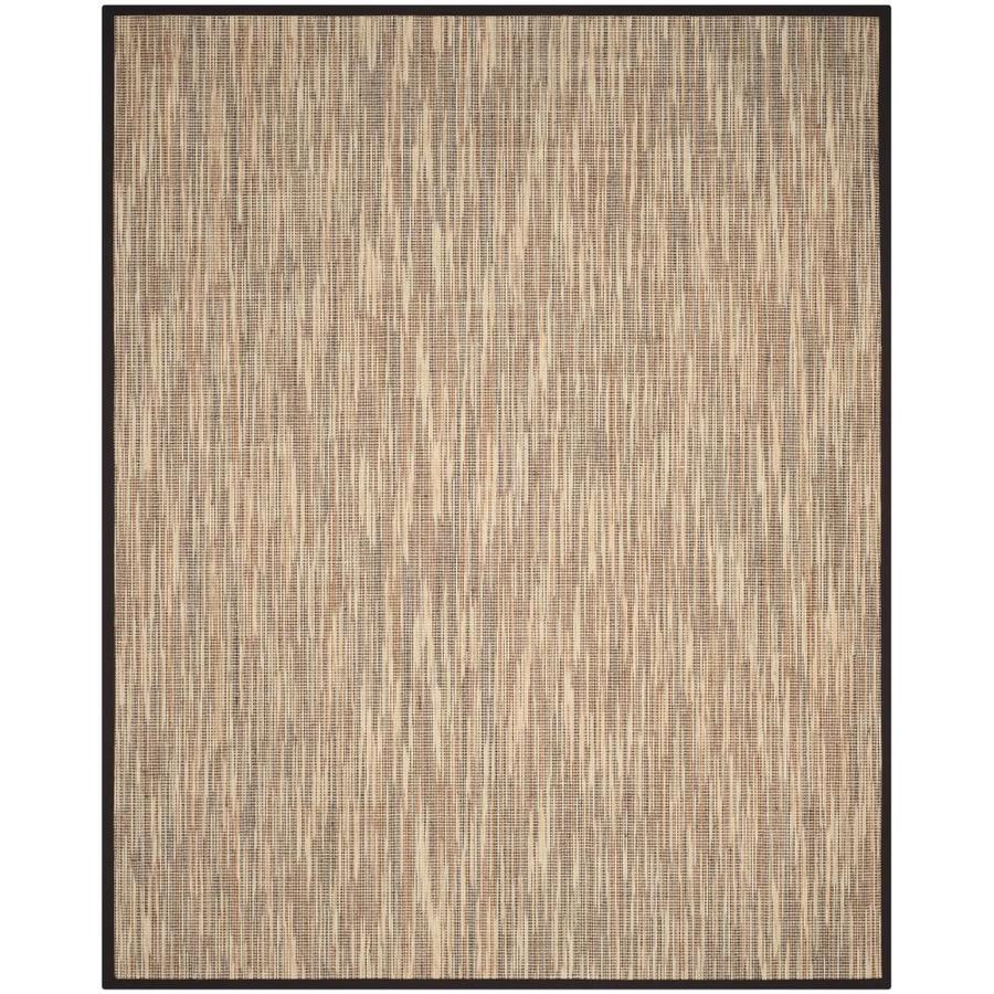 Safavieh Natural Fiber Barts Natural/Brown Rectangular Indoor  Coastal Area Rug (Common: 8 x 10; Actual: 8-ft W x 10-ft L)