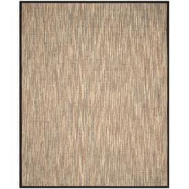 Safavieh Natural Fiber Barts Natural/Brown Indoor Coastal Area Rug (Common: 9 x