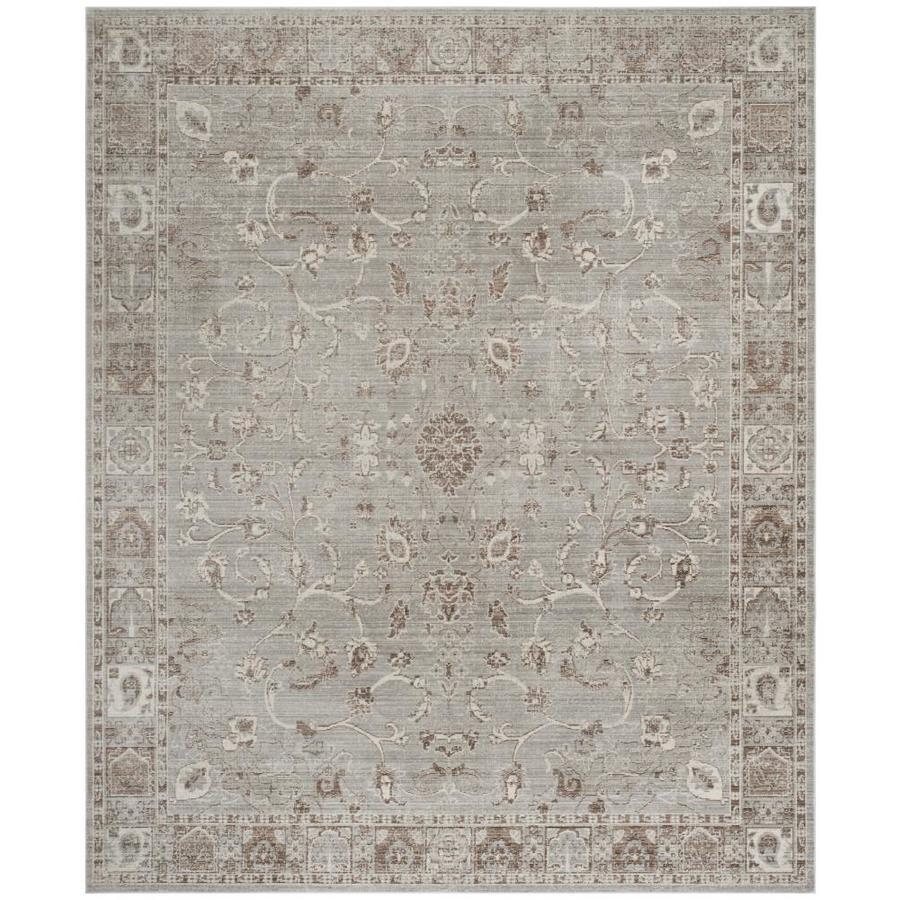 Safavieh Valencia Sarina Gray Indoor Distressed Area Rug (Common: 4 x 6; Actual: 4-ft W x 6-ft L)