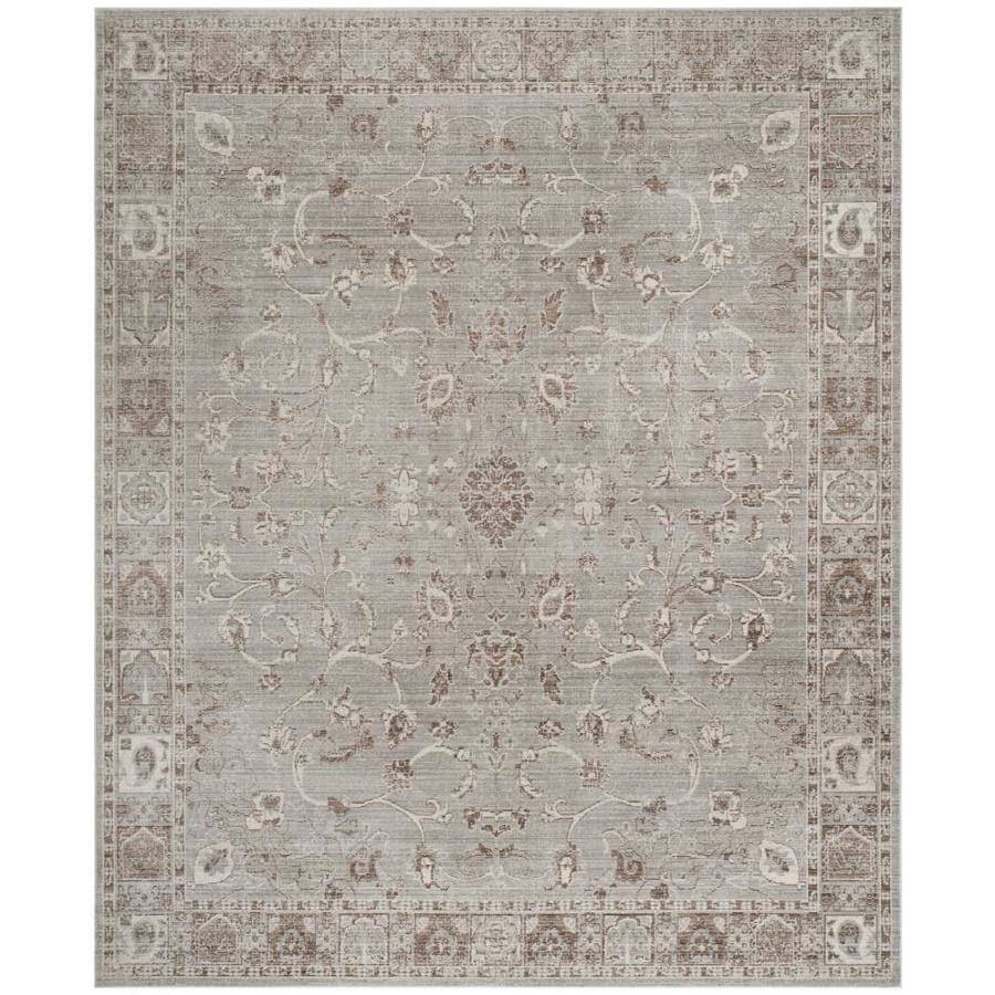Safavieh Valencia Sarina Gray Indoor Distressed Area Rug (Common: 8 x 10; Actual: 8-ft W x 10-ft L)