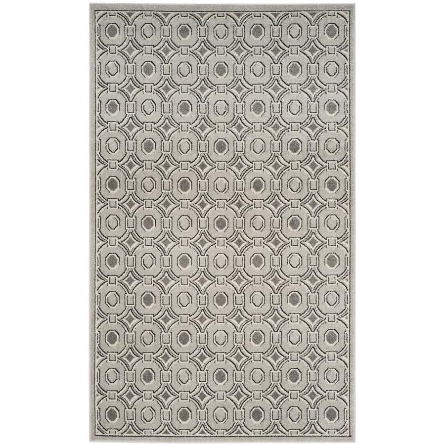 Safavieh Oka Light Gray/Ivory Indoor/Outdoor Area Rug (Common: 6 x 9; Actual: 6-ft W x 9-ft L)