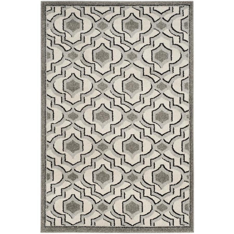 Safavieh Laval Ivory/Gray Indoor/Outdoor Area Rug (Common: 4 x 6; Actual: 4-ft W x 6-ft L)