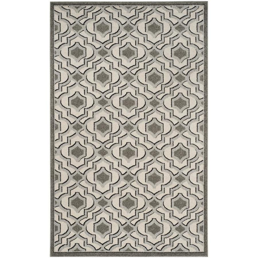 Safavieh Laval Ivory Gray Indoor Outdoor Area Rug Common 6 X 9