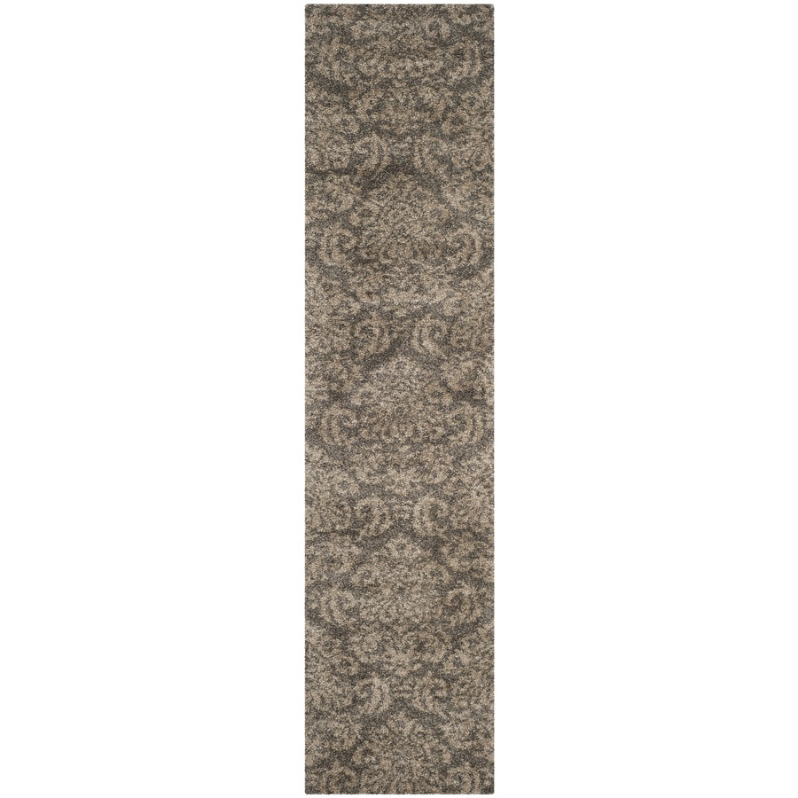 Safavieh Balin Shag Smoke/Beige Indoor Tropical Runner (Common: 2 x 7; Actual: 2.25-ft W x 7-ft L)