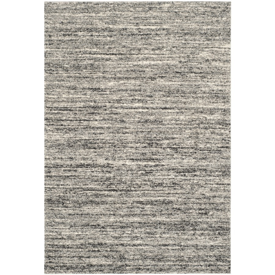 Shop safavieh retro andrea ivory gray indoor distressed for Common throw rug sizes