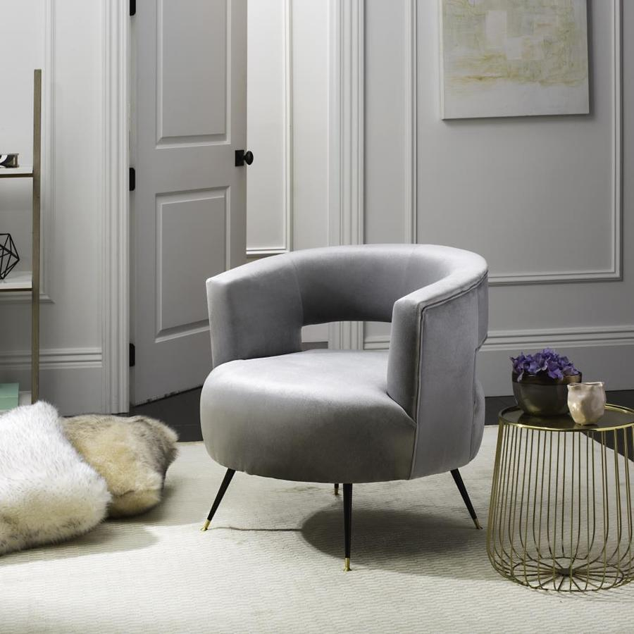 Safavieh manet midcentury light gray accent chair
