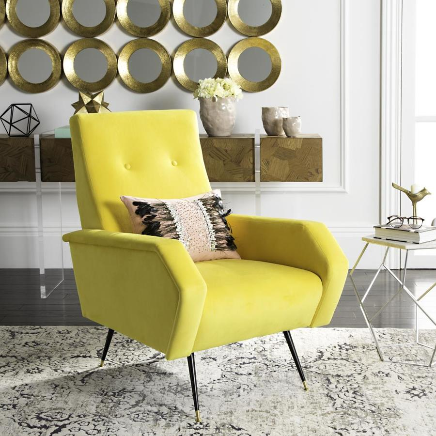 Safavieh Aida Midcentury Yellow Accent Chair At Lowes.com