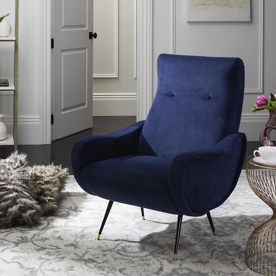 Safavieh elicia midcentury navy accent chair