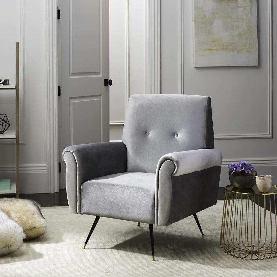 Safavieh Mira Midcentury Light Gray  Accent Chair