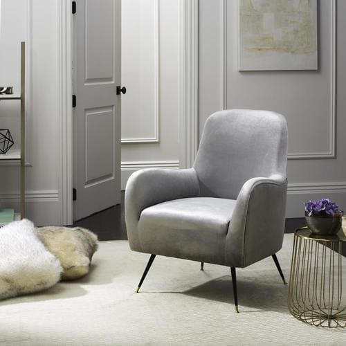 Admirable Safavieh Noelle Midcentury Light Gray Accent Chair At Lowes Com Caraccident5 Cool Chair Designs And Ideas Caraccident5Info
