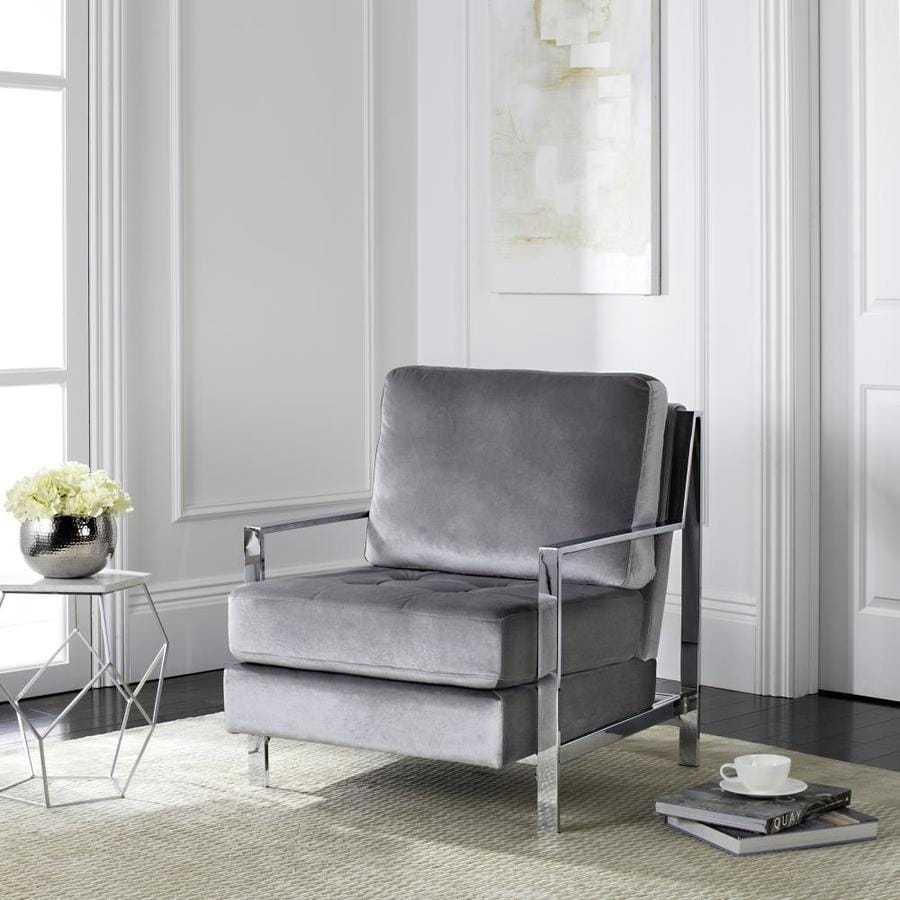 Safavieh Walden Casual Light Gray Accent Chair At Lowes Com