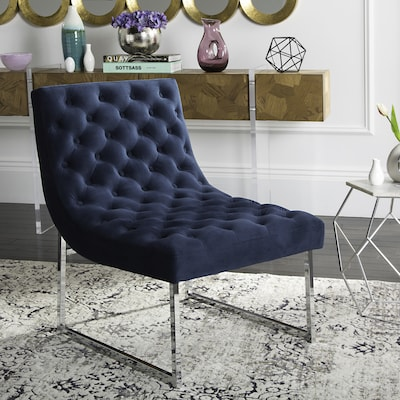Safavieh Hadley Modern Navy Accent Chair At Lowes Com