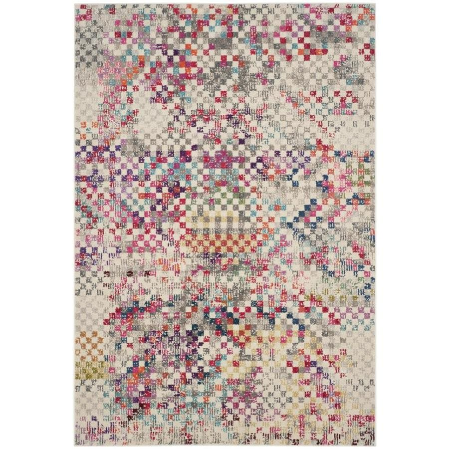 Safavieh Monaco Rutta Gray Indoor Area Rug (Common: 5 x 8; Actual: 5.1-ft W x 7.6-ft L)