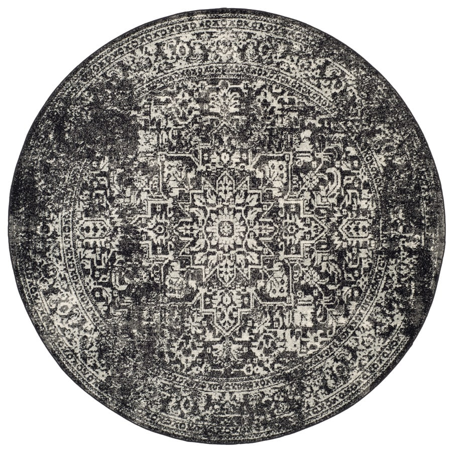Shop Safavieh Evoke Isla Black Gray Round Indoor Machine