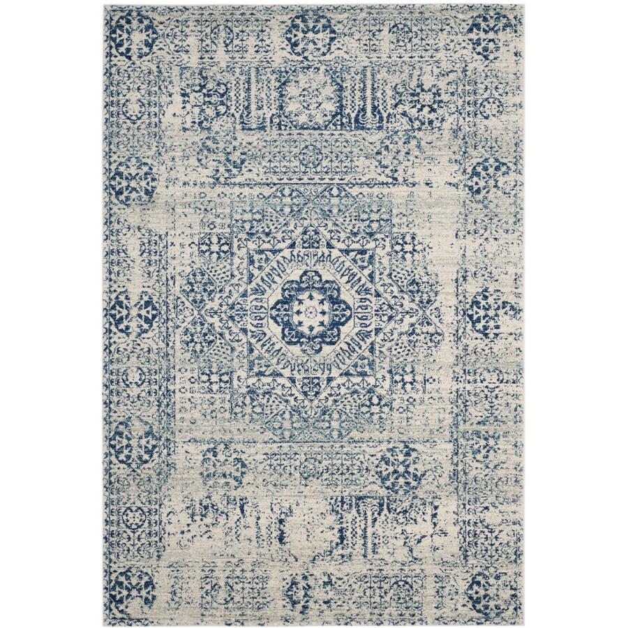Safavieh Evoke Apipe Ivory/Blue Rectangular Indoor Machine-Made Oriental Area Rug (Common: 11 x 15; Actual: 11-ft W x 15-ft L)