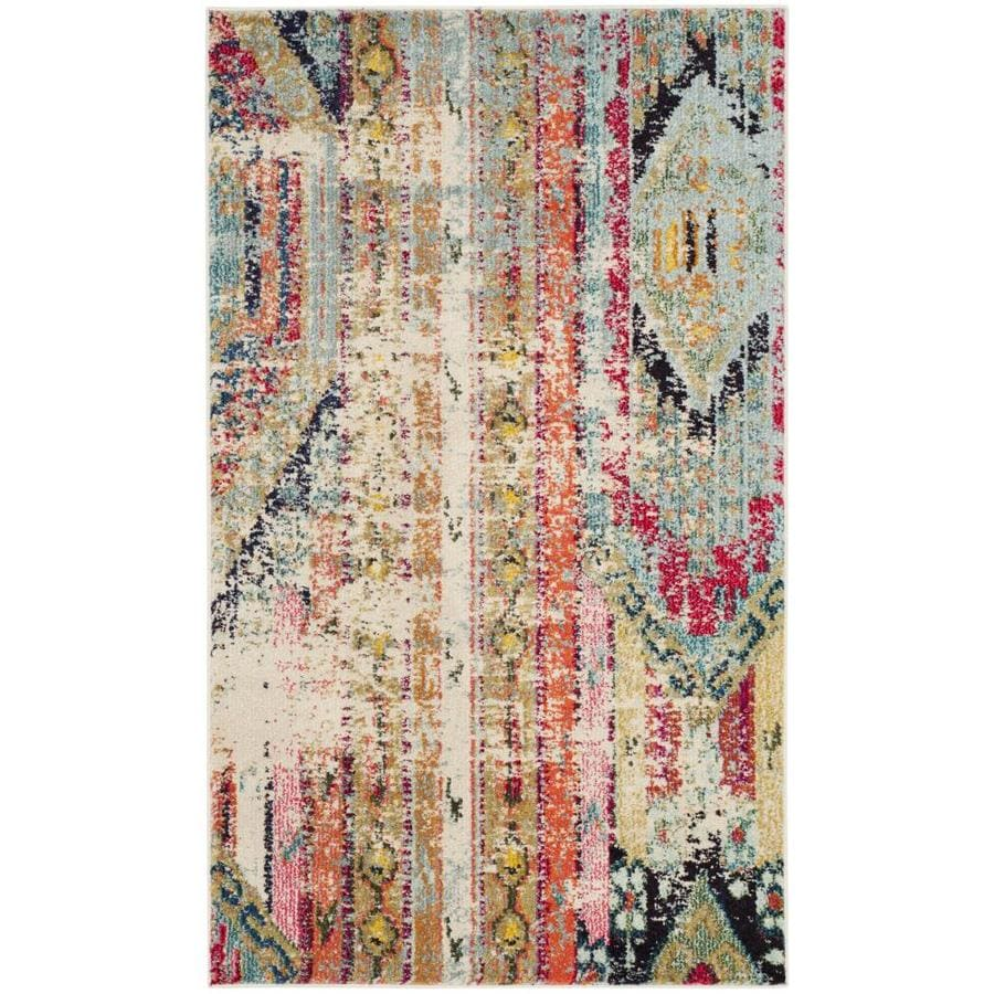 Safavieh Monaco Kolby Indoor Distressed Throw Rug (Common: 3 x 5; Actual: 3-ft W x 5-ft L)