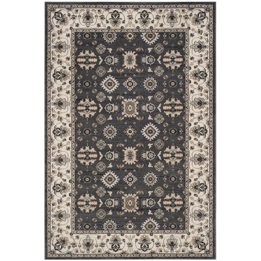 Safavieh Lyndhurst Samadan Gray/Cream Rectangular Indoor Machine-made Oriental Area Rug (Common: 6 x 9; Actual: 6-ft W x 9-ft L)