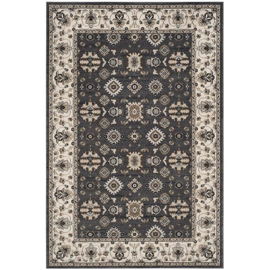 Safavieh Lyndhurst Grey/Cream Rectangular Indoor Machine-Made Area Rug (Common: 8 x 10; Actual: 8-ft W x 10-ft L)