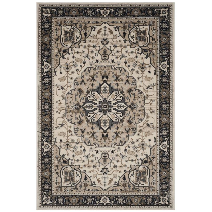 Safavieh Lyndhurst Marquois 6 X 9 Cream Gray Indoor Floral Botanical Oriental Area Rug In The Rugs Department At Lowes Com