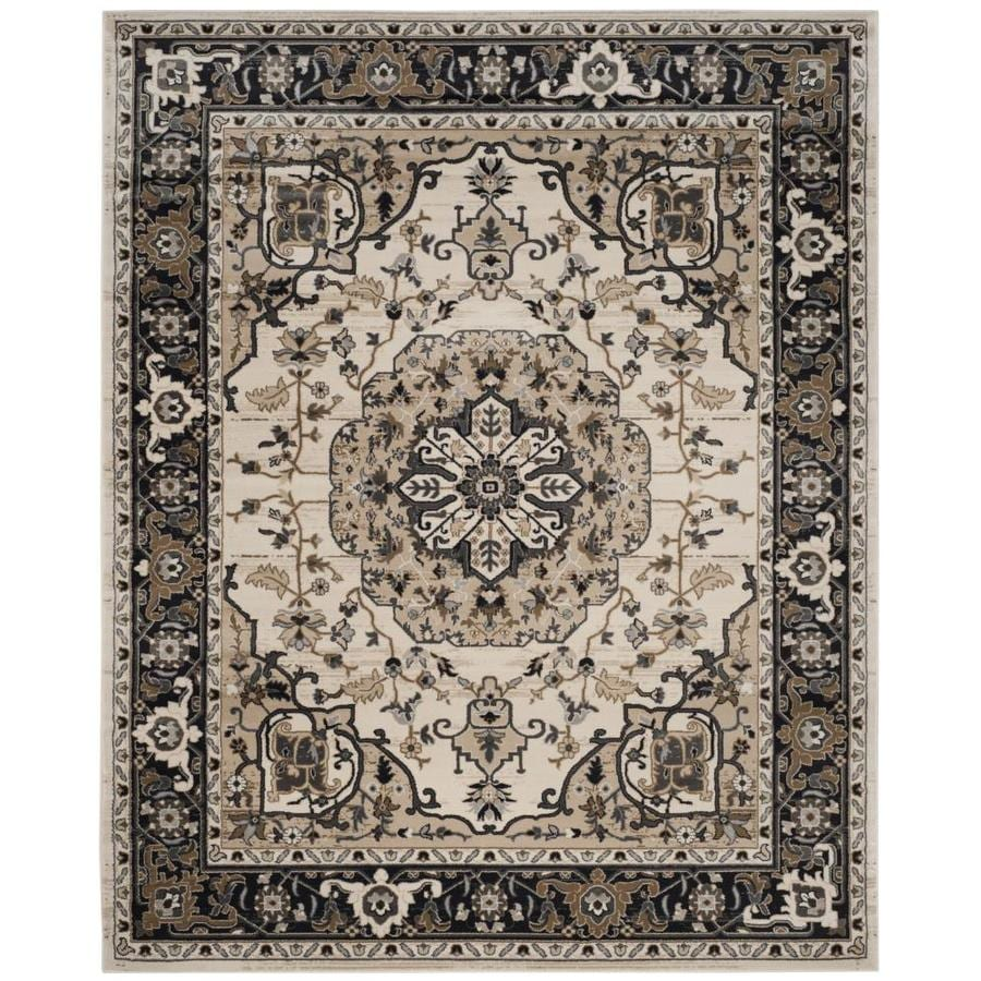 Safavieh Lyndhurst Marquois Cream/Navy Indoor Oriental Area Rug (Common: 8 x 10; Actual: 8-ft W x 10-ft L)