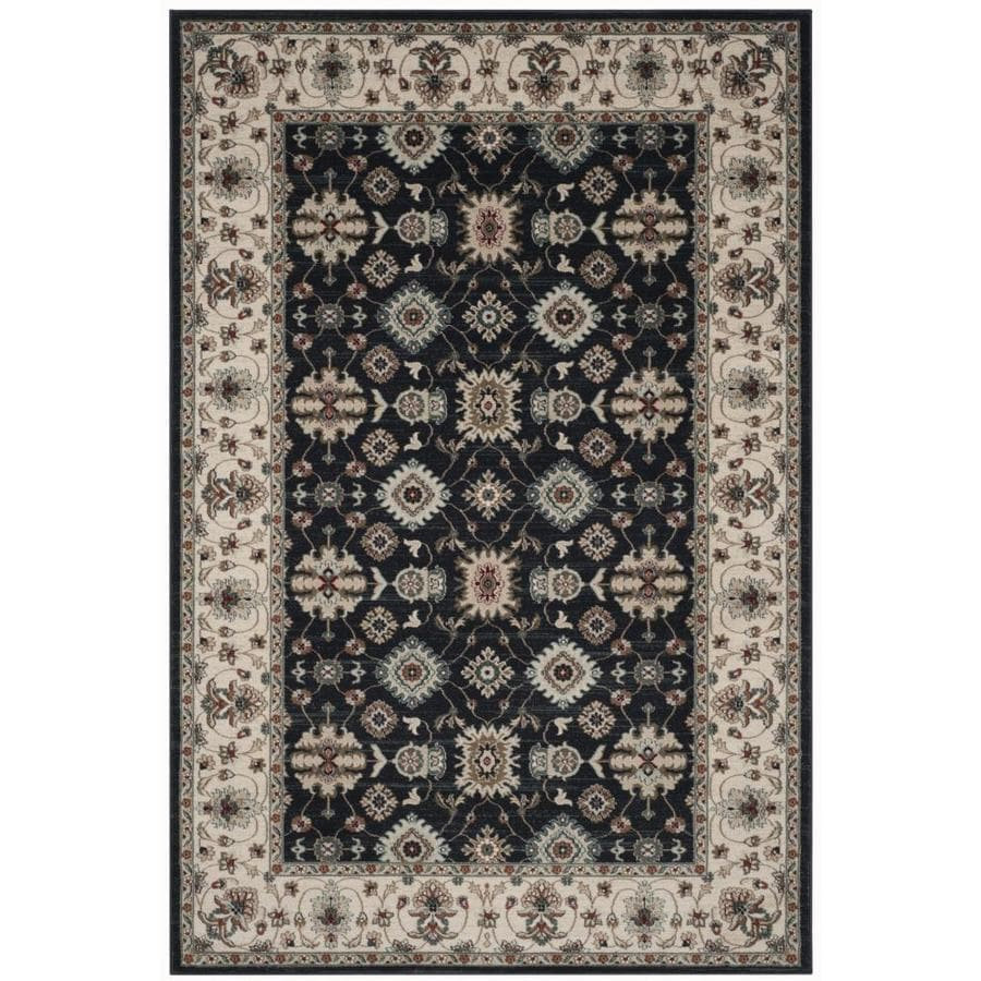 Safavieh Lyndhurst Navy/Creme Rectangular Indoor Machine-Made Area Rug (Common: 5 x 7; Actual: 5.25-ft W x 7.5-ft L)