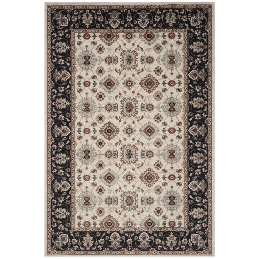 Safavieh Lyndhurst Cream/Navy Rectangular Indoor Machine-Made Area Rug (Common: 5 x 7; Actual: 5.25-ft W x 7.5-ft L)